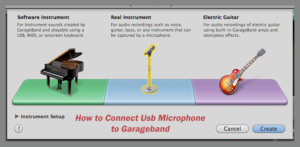How to Connect a Usb Microphone to Garageband