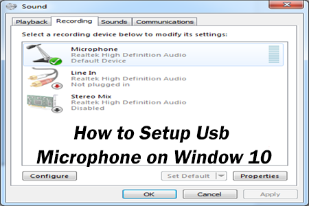 Solved] How To Setup Usb Microphone Windows 10